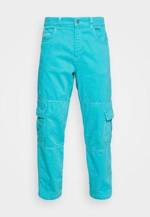 STRAIGHT LEG TROUSER - Pantalon cargo - dark aqua