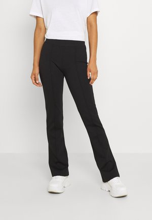 PCKLARA FLARED PANTS - Kalhoty - black