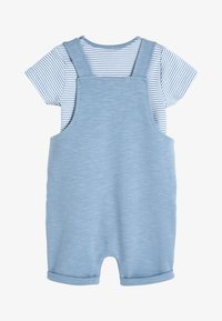 Next - BLUE APPLIQUé CHARACTER DUNGAREES AND BODYSUIT SET (0MTHS-2YRS) - Body - blue - 1