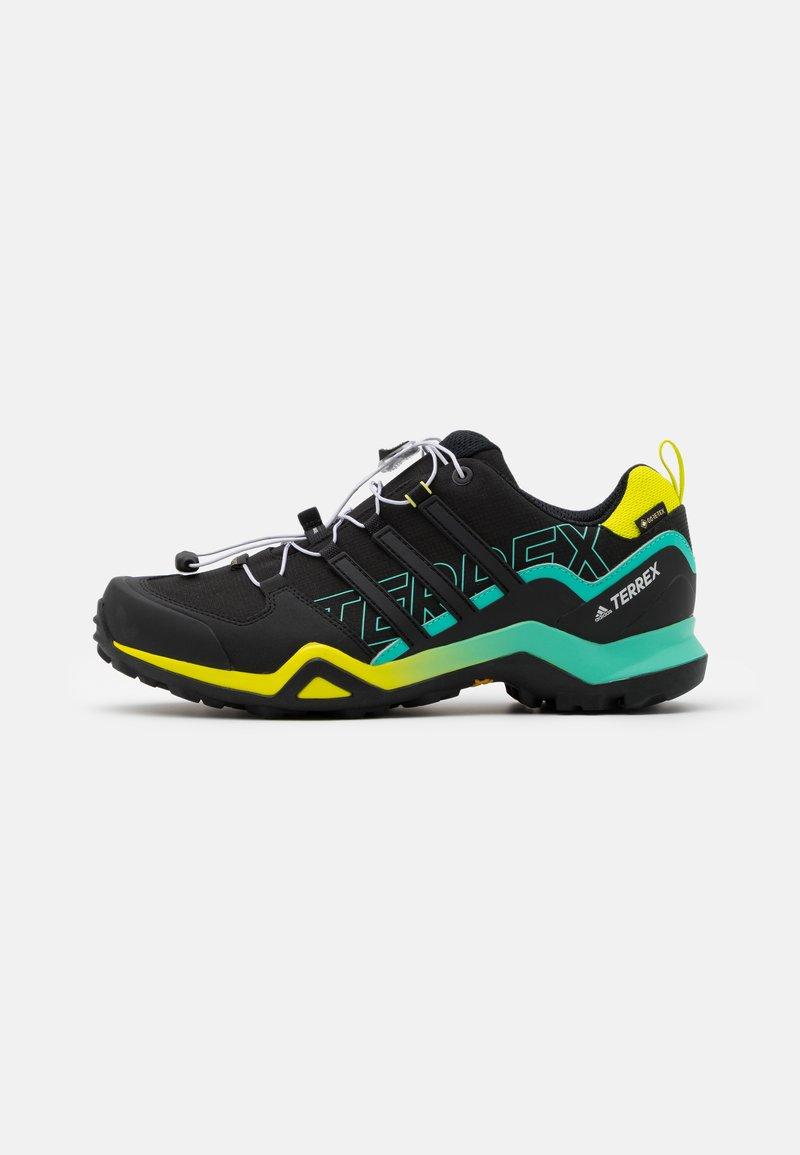 adidas Performance - TERREX SWIFT R2 GTX - Hiking shoes - core black/acid mint