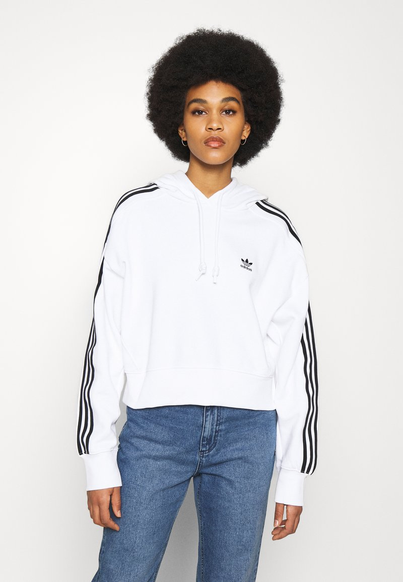adidas Originals - SHORT HOODIE - Hoodie - white