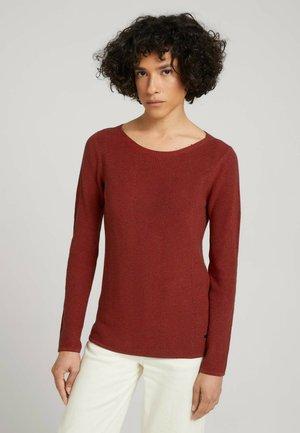 Jumper - dark maroon red melange
