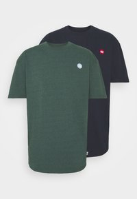 Kronstadt - MARTIN RECYCLED 2 PACK - Basic T-shirt - navy/olive - 6