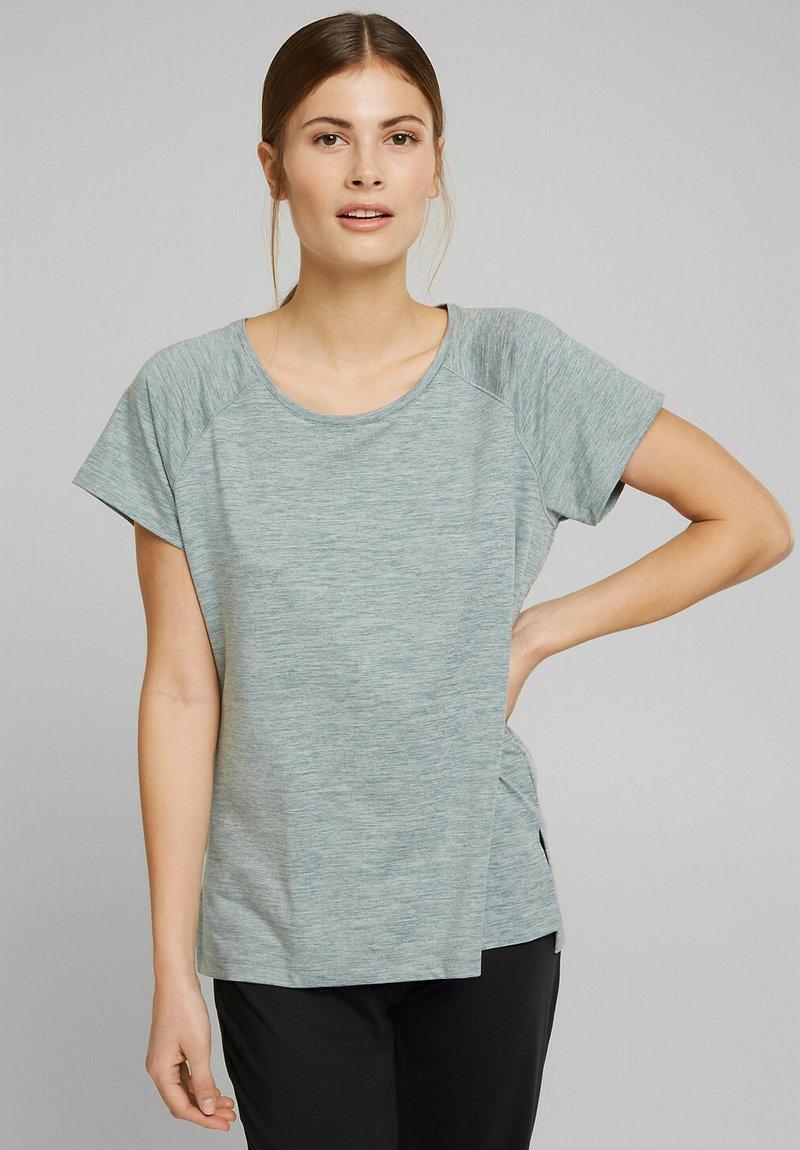 Esprit Sports - MIT E-DRY - Sports shirt - dusty green