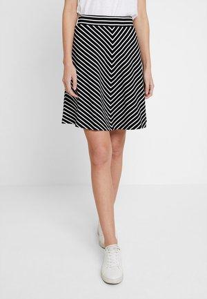 EASY STRIPED SKIRT - A-line skirt - black