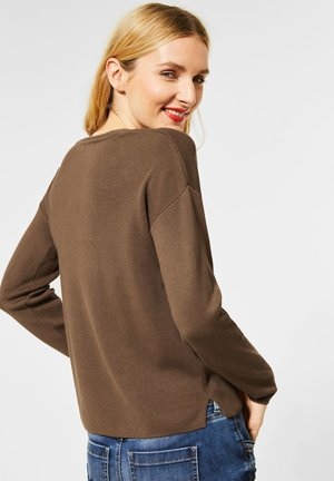Softer in Unifarbe - Strickpullover - braun