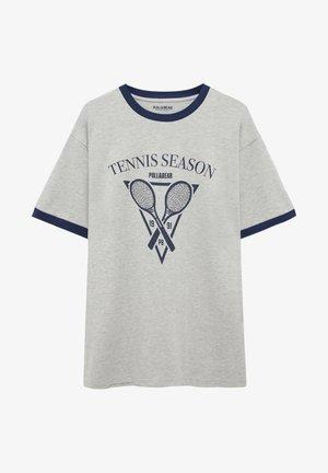 TENNIS SEASON - T-shirt con stampa - light grey