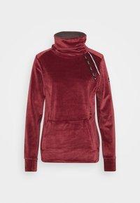 DELTINE  - Fleece jumper - oxblood red