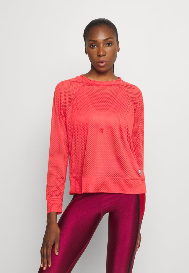 HONEYCOMB CREW NECKLONG SLEEVE PULL OVER - Long sleeved top - radiant red