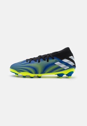 NEMEZIZ .3 MG UNISEX - Moulded stud football boots - royal blue/footwear white/solar yellow