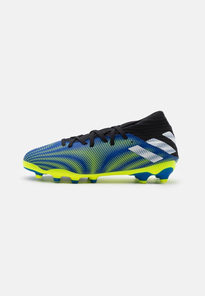 adidas Performance - NEMEZIZ .3 MG UNISEX - Moulded stud football boots - royal blue/footwear white/solar yellow