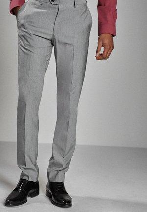 STRETCH TONIC SUIT: TROUSERS-SLIM FIT - Suit trousers - light grey