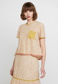 Madewell - CREW NECK BUTTON BACK - Blouse - golden meadow - 0
