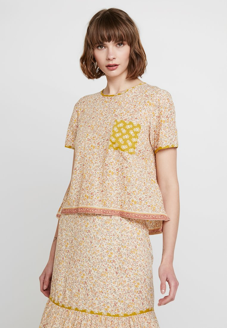Madewell - CREW NECK BUTTON BACK - Blouse - golden meadow