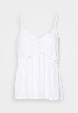 PEPLUM TANK   - Top - natural white