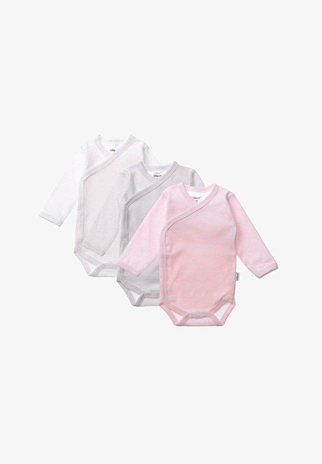 3 PACK - Body - weiß/ grau gestreift/ rosa gestreift