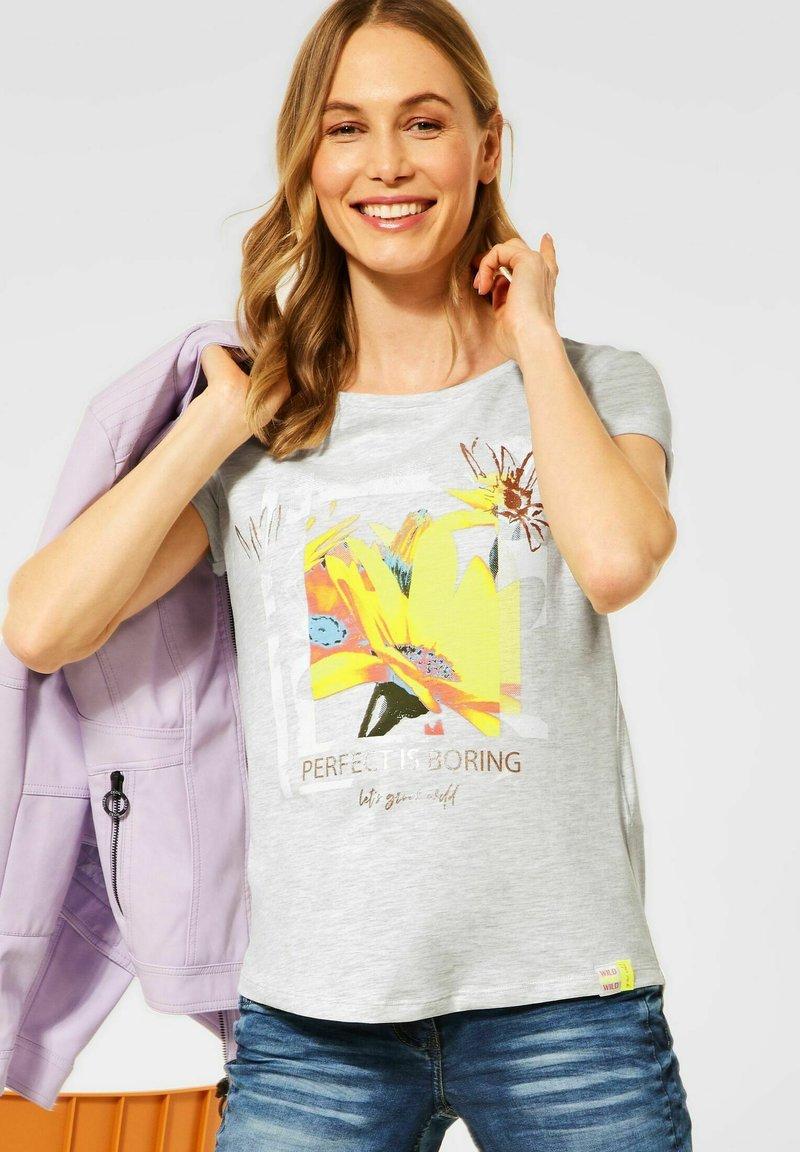 Cecil - MIT PRINT - Print T-shirt - weiß