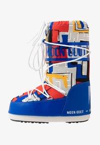 Moon Boot - BOY ABSTRACT - Bottes de neige - blue/yellow - 1
