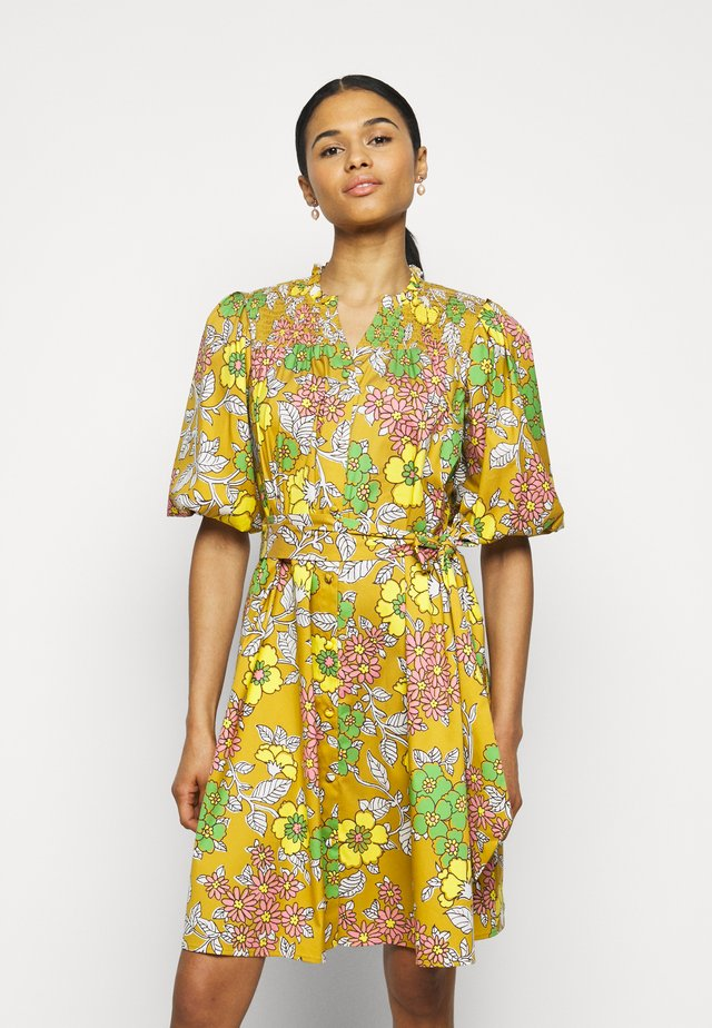 PRINTED TIE DRESS - Korte jurk - multi-coloured