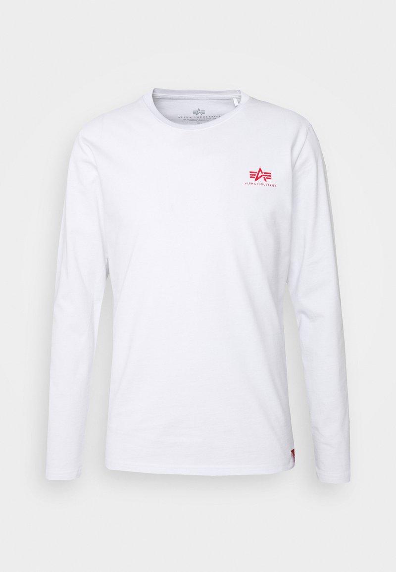 Alpha Industries - BACK PRINT HEAVY - Pitkähihainen paita - white/red