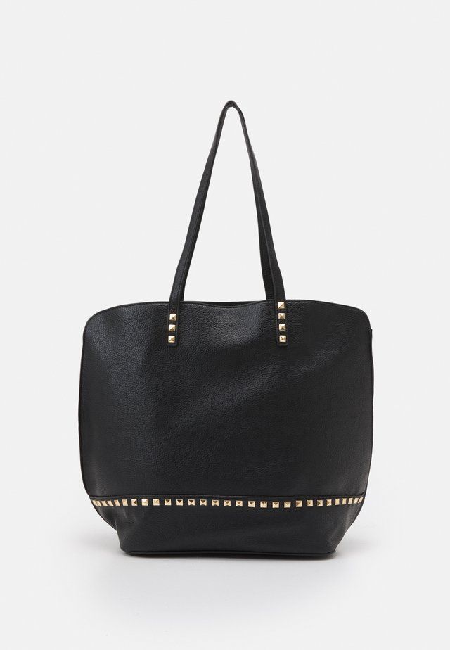PRIYA PYRAMID STUD DETAIL HOBO - Shopping bag - black