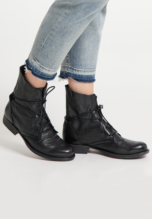 Bottines à lacets - schwarz