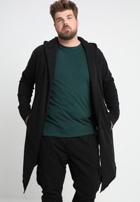 Urban Classics - LONG HOODED OPEN EDGE  - Zip-up hoodie - black - 0