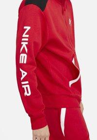 Nike Sportswear - HOODIE - Zip-up sweatshirt - university red black white - 7