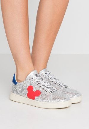 Sneakers laag - gallery silver/red