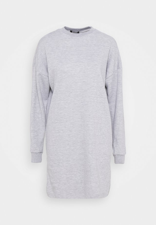 DRESS - Korte jurk - grey marl