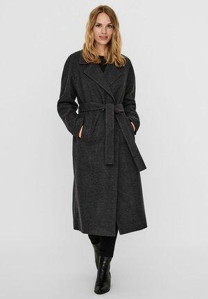 Płaszcz wełniany /Płaszcz klasyczny - dark grey melange