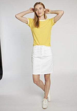Denim skirt - weiss