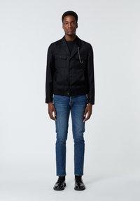 The Kooples - EN LAINE BOUTONNÉ À COL CRANTÉ - Light jacket - black - 1