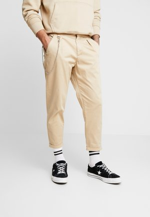 LEE CROPPED PANTS - Kangashousut - travertine