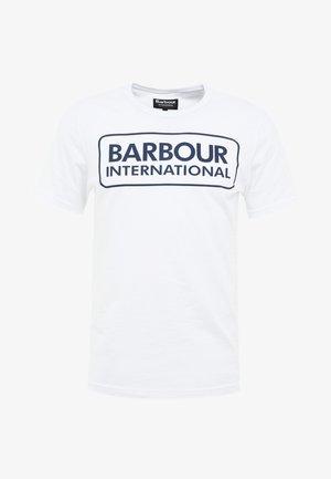ESSENTIAL LARGE LOGO TEE - Print T-shirt - white