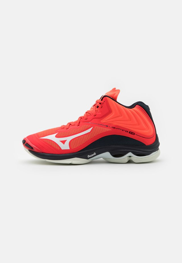 WAVE LIGHTNING Z6 MID - Scarpe da pallavolo - ignition red/white/bit of blue