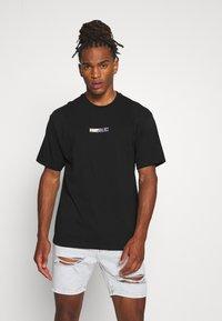 Topman - UNISEX PLANET TEE - Print T-shirt - black - 0