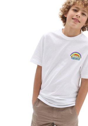 BY VANS X SPONGEBOB IMAGINAAATION SS BY - Print T-shirt - white