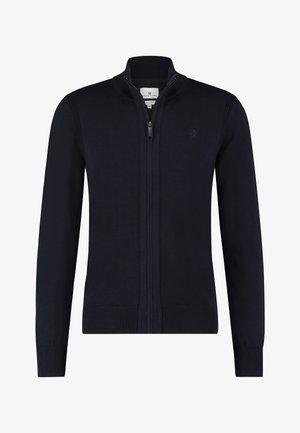 Sweater met rits - dark-blue plain