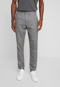 Solid - SLIM BARRO - Trousers - grey - 0