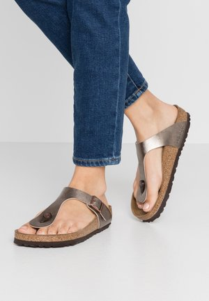 GIZEH - T-bar sandals - graceful taupe