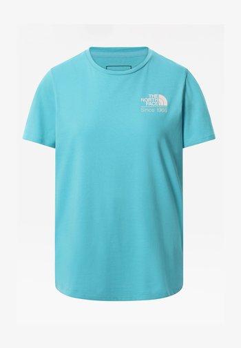 W FOUNDATION GRAPHIC TEE - EU - Camiseta estampada - maui blue