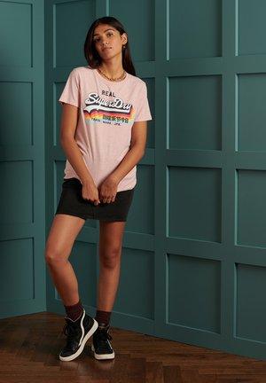 VINTAGE  - Print T-shirt - shell pink marl