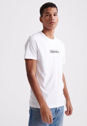 CORE LOGO ESSENTIAL - Camiseta estampada - white
