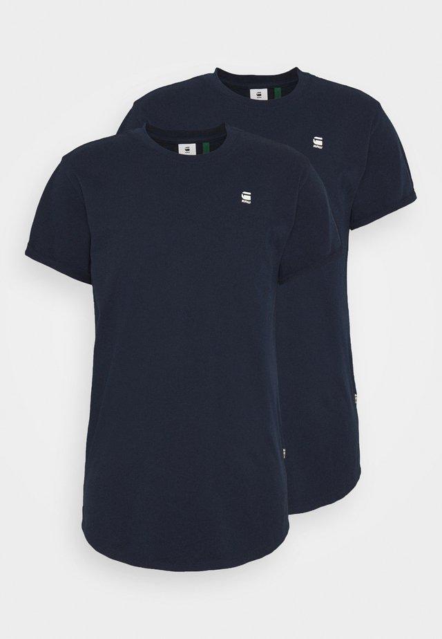 LASH 2 PACK - Basic T-shirt - sartho blue