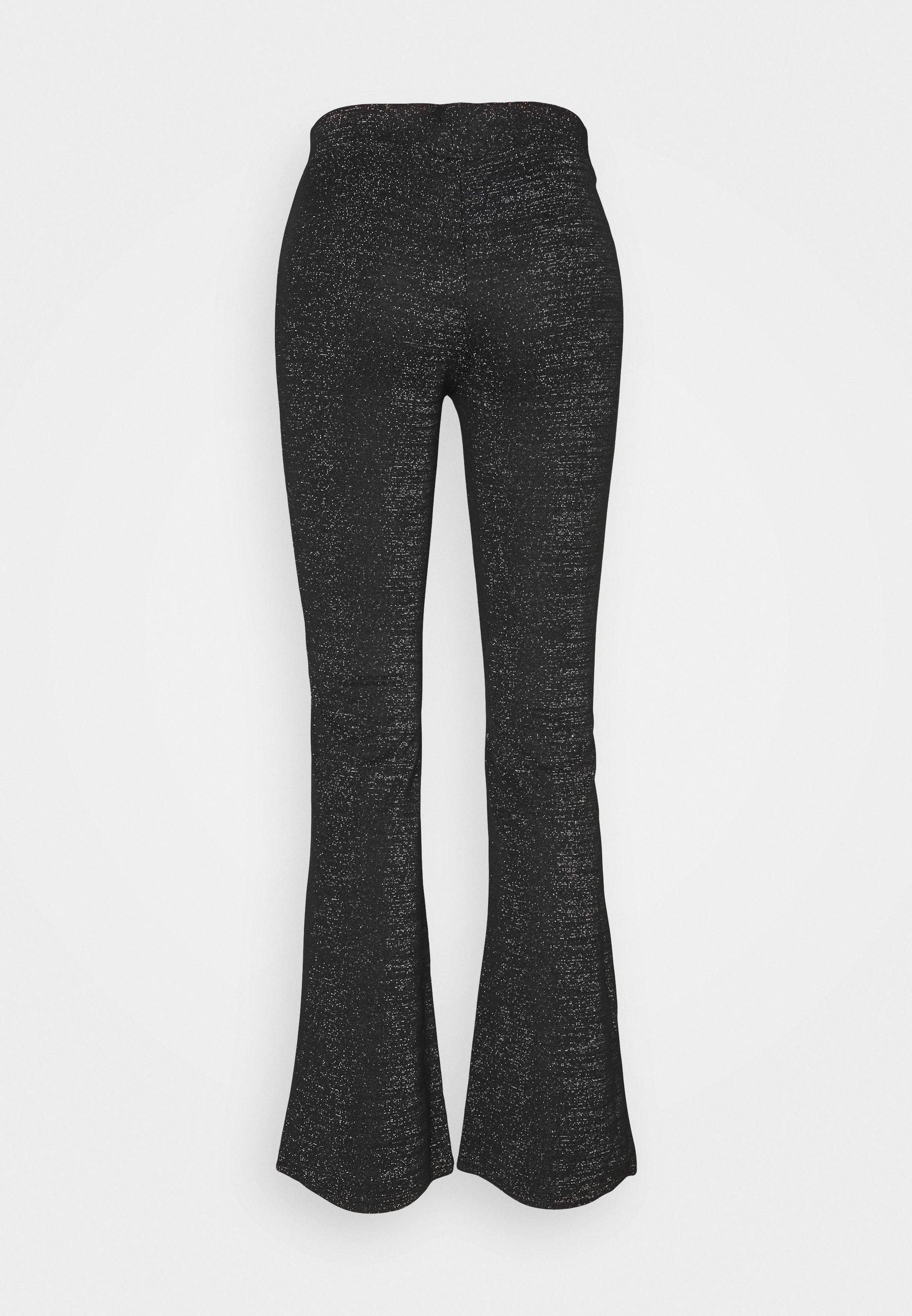 ONLPAIGE FLARED GLITTER PANT Bukse black