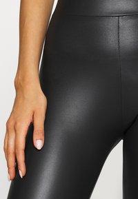 Topshop - WET LOOK - Leggings - Trousers - black - 4