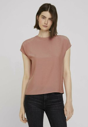 MOCK-NECK BLOUSE - Bluse - clay rose