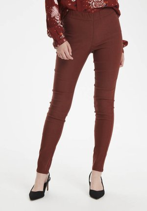 KAJOLEEN - Leggings - Trousers - cherry mahogany