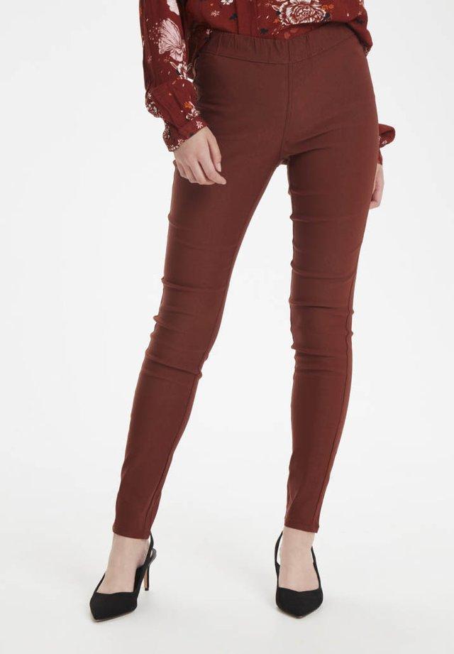 KAJOLEEN - Leggings - Trousers - cherry mahogany